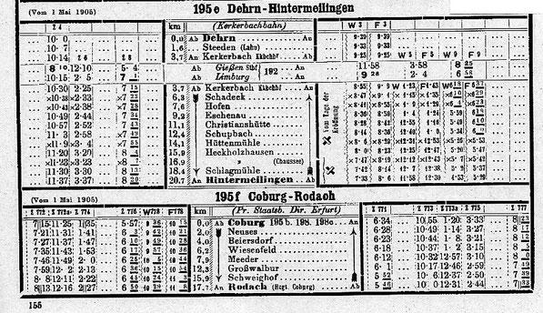 Kursbuch 1905