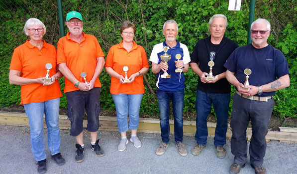 v.l. Ingeborg, Wilfried, Ulrike, Michael, Ernst, und Marcel