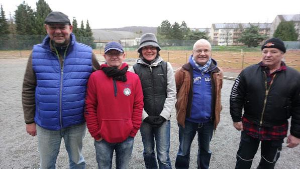v.l. Michael, Uwe, Martina, Eberhard und Ernst