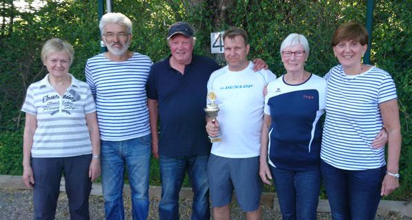 v.l. Ilse, Drago, Laszlo, Ingo, Ingeborg und Birgit