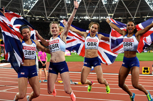 Zoey Clark and Eilidh Doyle won relay silver at London 2017, along with teammates Emily Diamond and Laviai Nielsen
