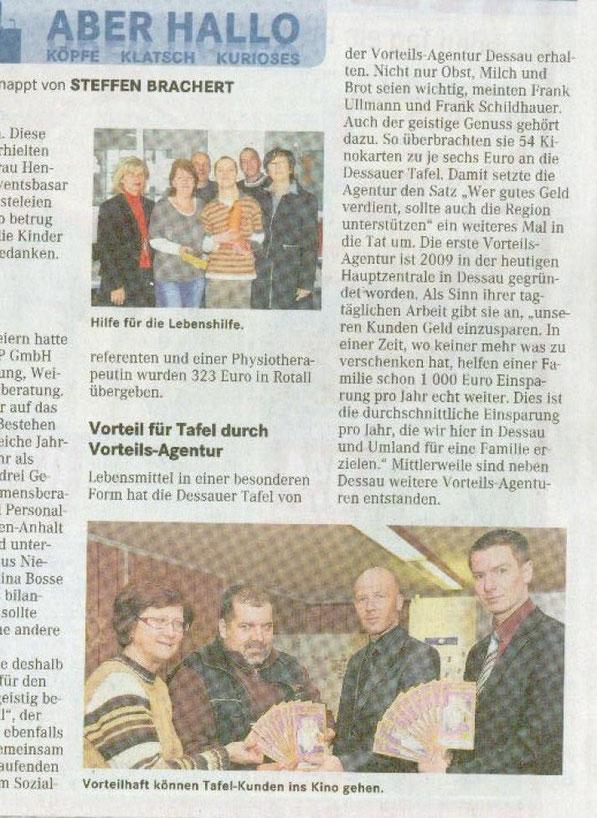 Pressebericht Super Sonntag Dessau-Roßlau