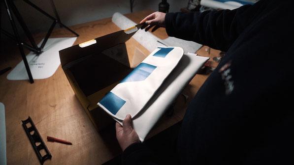 Recycling Laptoptasche aus gebrauchter Plane. Nachhaltig und sozial in Deutschland hergestellt.