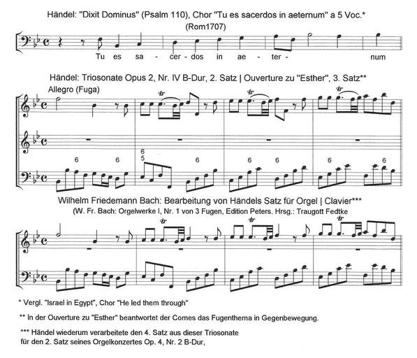 Wilhelm Friedemann Bach und Georg Friedrich Händel