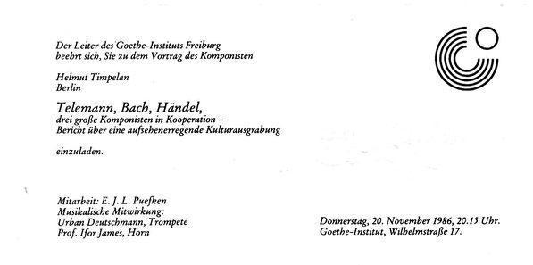 Goethe-Institut Freiburg | Goethe-Institut | Telemann-Bach-Händel-Cooperation