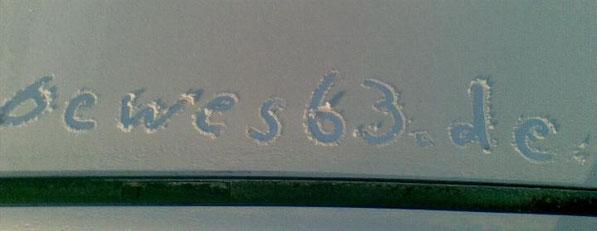Ein Hauch von Schnee.
