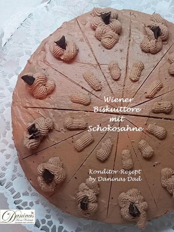 Wiener Bisuittorte mit Schokosahne Rezept