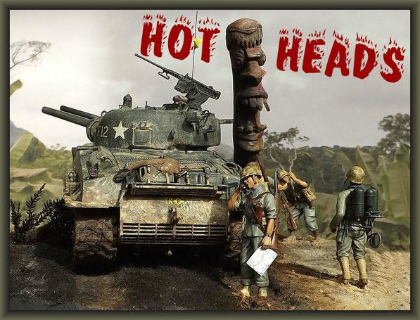 Sherman M4A3 (105mm) POA-CWS-H5 ; Diorama 1/35