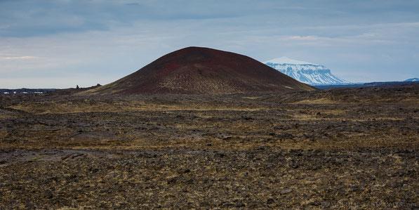 Miðhóll, Midhöll, Herdubreid, Herðubreið, Fjallagjá, Graben, Cinder Cone