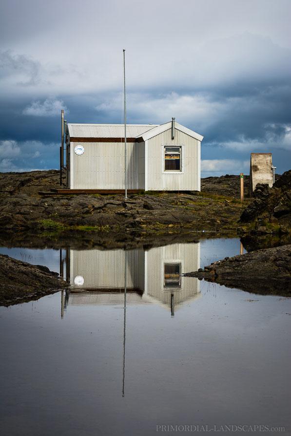 Ferðafélag Akureyrar, Skáli, hut, Botni, Suðurárbotnar, Sudurarbotnar, Winter, Öskjuvegur, Útbruni, Frambruni, Lava