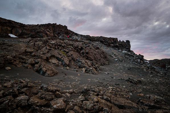 Ódáðahraun, Mývatnsöræfi, Fissure, Graben, Cliff, Bishop, Cairn
