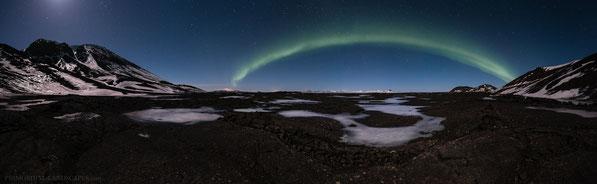 Búrfell, Burfell, Mývatnsöræfi, Winter, Aurora Borealis, Polarlicht