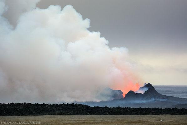 Holuhraun, Bárðarbunga, Ódáðahraun, Odadahraun, Dyngjusandur, Vulkan, Lava, Dyngjujökull