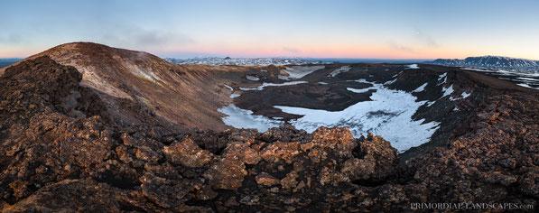 Panorama, Ketildyngja, crater, Sighvatur, Kerlingardyngja, Askja, Bárðarbunga, Bláfjall, Herðubreið, Herdubreid, Trekking, Hiking, Primordial Landscapes, Fremrinámar