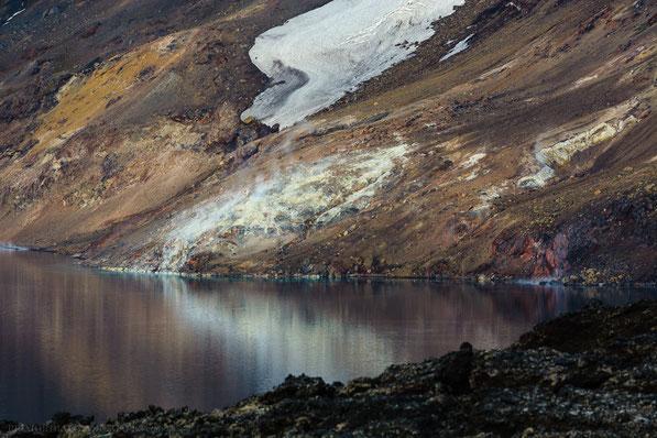 Þorvaldstindur, Solfatara, Geothermal, activity, Schwefel, Sulphur, Thorvaldstindur, Thoroddsentindur, Askja, Dyngjufjöll, Ódáðahraun