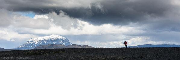 Herðubreið, Trekking, Ódáðahraun, Hiking, Backpack, Wandern, Eystraskarð, Iceland, Island, Queen