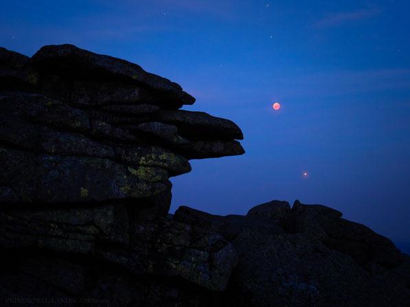Blutmond, Brocken, Blocksberg, Harz, Lunar Eclipse, Blood Moon, Mars, 2018
