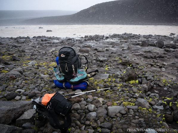 Rjúpnabrekkukvísl, Rjupnabrekkukvisl, Glacial river, Vonarskarð, Lowe Alpine Cerro Torre Expedition, Hanwag, Thinktank, Leki, Vatnajökull, Bárðarbunga, Bardarbunga, Gæsavötn, Ford, Furt