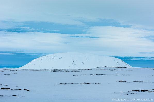 Sellandafjall, Botni, Ùtbruni, Ódáðahraun, Lava, Winter, Snow, desert, Iceland, Island, Thuya, Table Mountain, Tafelberg, Vulkan