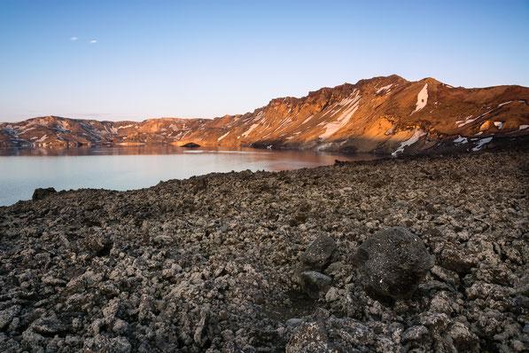 Askja, Myvetningahraun, Öskjuvatn, Þorvaldstindur, Askur, Thorvaldstindur, Caldera, Lichen