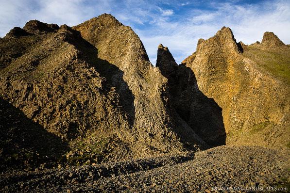 Seljahjallagil, basalt, canyon, polygon, erosion, Bláfjall, Mývatn, Mývatnsöræfi