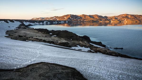 Ólafsgígar, Öskjuvatn, Askja, Dyngjufjöll, Olfasgigar, Viti, Caldera, Snow, Trekking