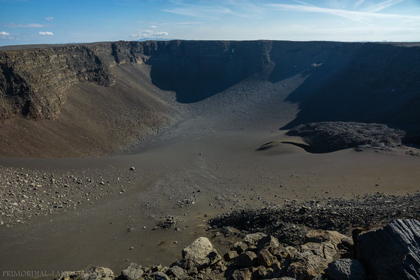 Urðarháls, pit crater, shield volcano, Urdarhals, F910, hiking, wandern, krater, Dyngjufjöll, Askja