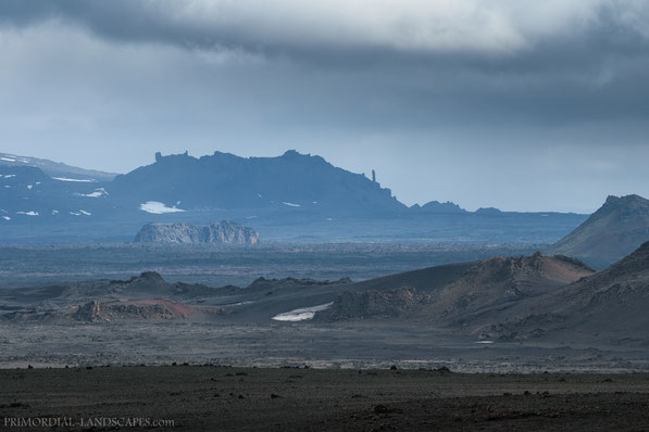 Mývatnsöræfi, Útbruni, Bræðrafell, Braedrafell, Ódáðahraun, Odadahraun, Lava, Iceland, Island, spire