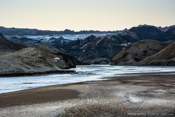 Jökulsá á Fjöllum, Dyngjujökull, Jökulsa a Fjöllum, Glacier, Vatnajökull, Flæður, Flaedur, Urðarháls, Debris, Ódáðahraun