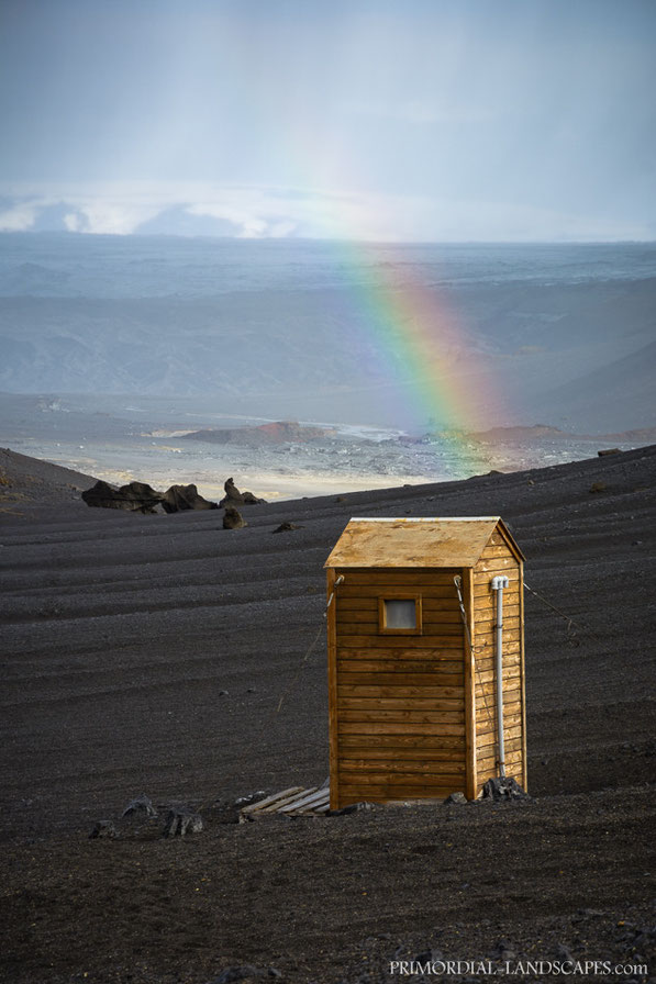 Rainbow, Toilet, Loo, Kistufell, Shelter, F910, Dyngjujökull, Kverkfjöll