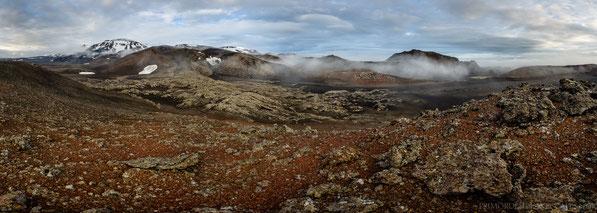 Fjárhólar, Eystraskarð, Kollur, Norðurfjöll, Dyngjufjöll, Askja, Einstæðingur, Axlarfell, Ódáðahraun, Panorama, Odadahraun, Iceland, Island, Trekking