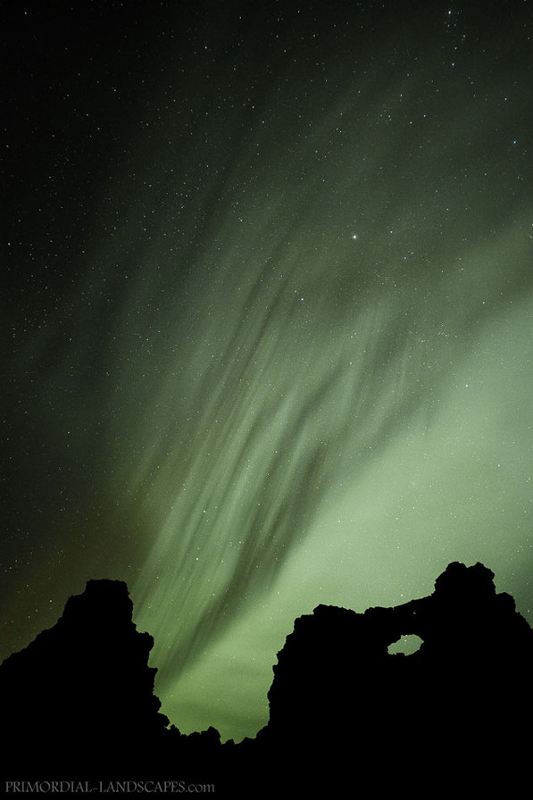Aurora Borealis above Dimmu Borgir