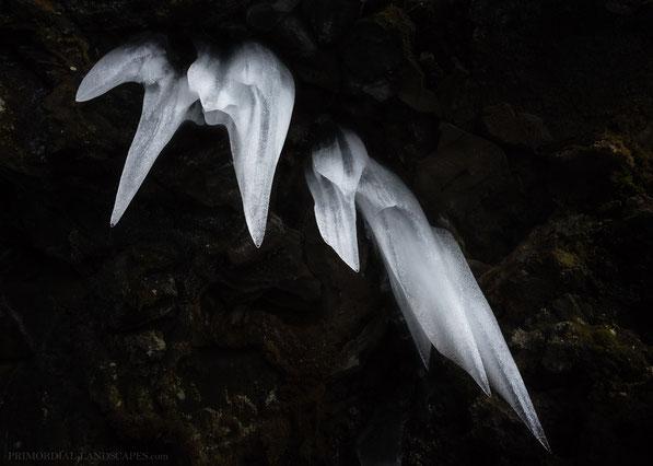ice cave, lava tube, hellir, winter