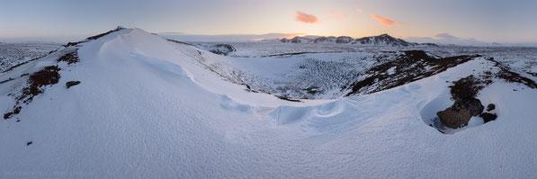 Winter, Búrfell, Panorama, Skógarmannafjöll, Mývatnsöræfi, Rauðka, Fjallaborg