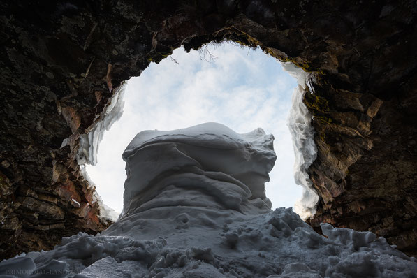ice cave, lava tube, hellir, winter