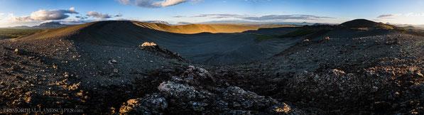 Ludent, explosion crater, Hverfell, Hverfjall, Búrfell