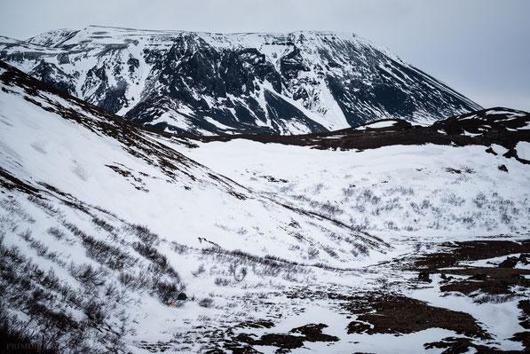 Búrfell, Burfell, Skógarmannafjöll, Mývatn, Mývatnsöræfi, Thuya, Winter, Hilleberg, Nammatj