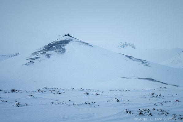 Tvíburatindur, Tviburatindur, Lokatindur, Útbruni, Dyngjufjöll, Askja, Ódáðahraun, Island, Winter