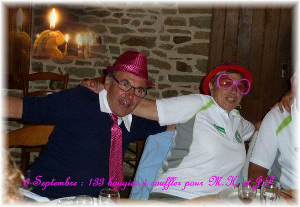 Une belle soirée spéciale pour l'anniversaire commun de Marie-Hélène et JP...