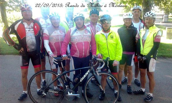 """En y ajoutant la célèbre """"Bande à Michou"""", c'est plus d'une quinzaine de cyclos Poyens qui ont participé au succès de la Rando du Milhoc à Morlaas..."""