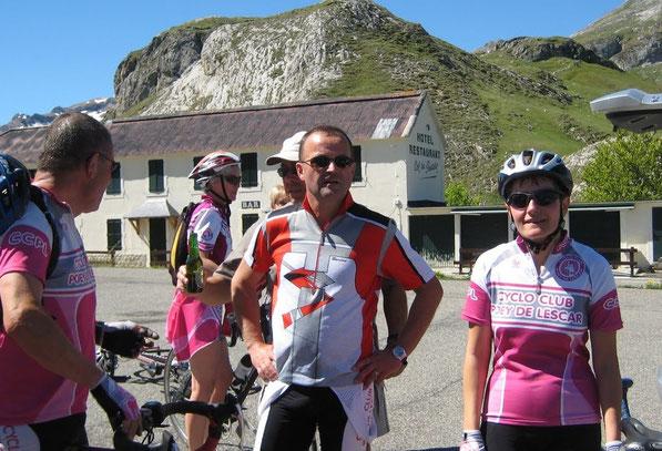 C'était en 2011 et une quinzaine de cyclos de tous niveaux s'étaient retrouvés à la frontière au cours d'une journée superbe...