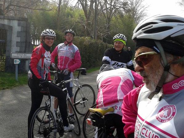 """Le Groupe 2 s'est même offert en prime la montée sur les côteaux d'Aubertin par la """"Chapelle de Rousse"""" !"""