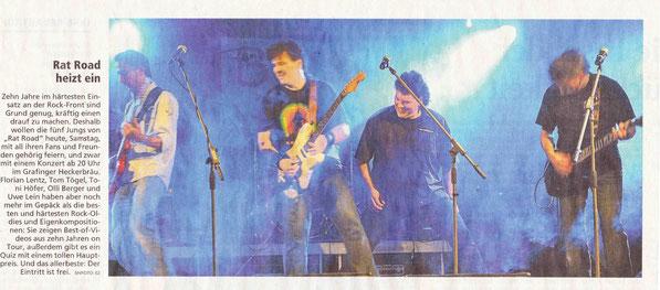 Ankündigung 10 Jahresfest 10.2011 (M. Merkur)