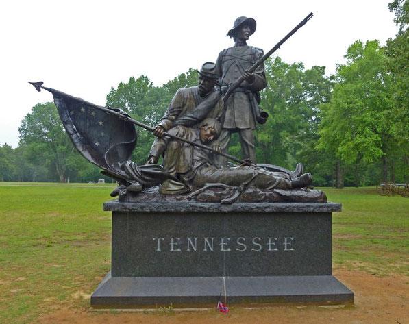 Monument op het Shiloh Battlefield