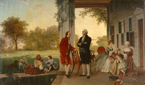 George Washington en Lafayette