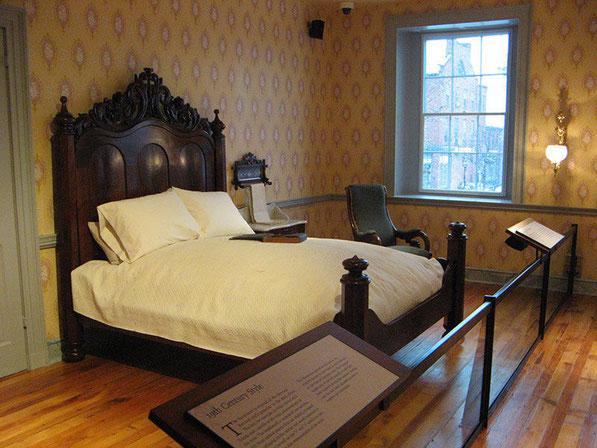 De logeerkamer waar de president heeft overnacht