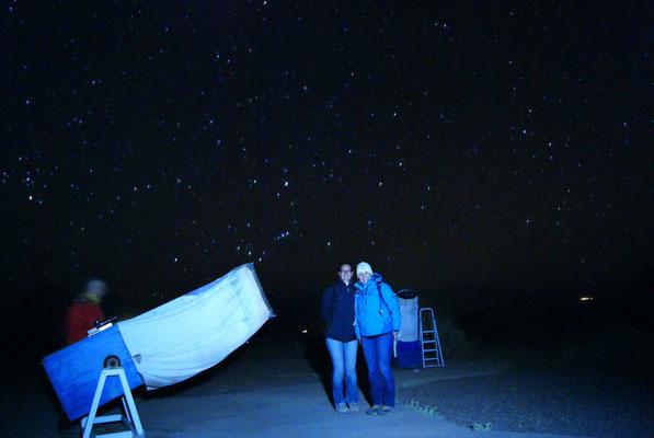 In der Wüste ist es nachts ganz schön kalt!