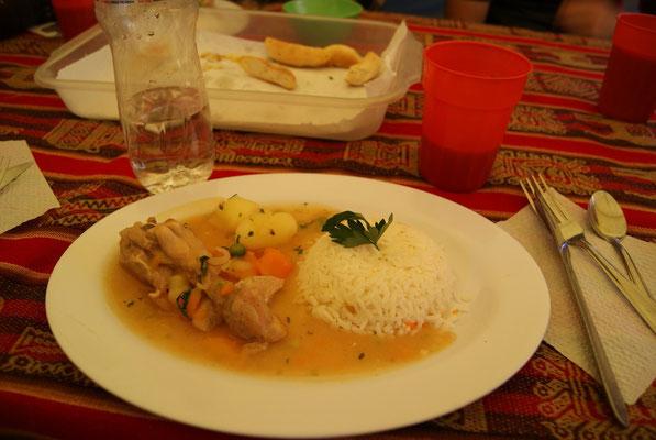 Hauptgericht irgendwo in den Anden