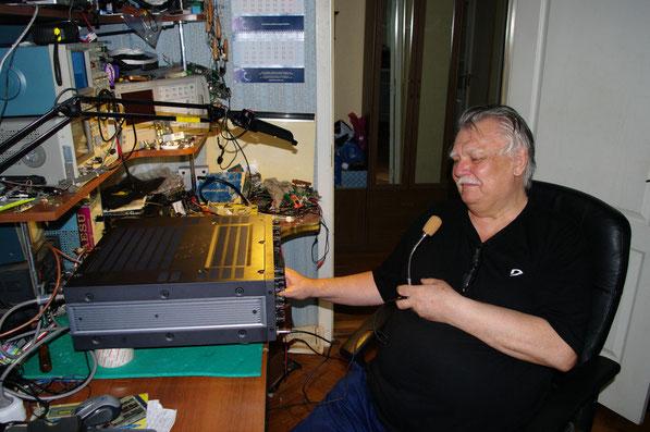 Тестирование доработанного трансивера прошло успешно, RZ3CC доволен своей работой.