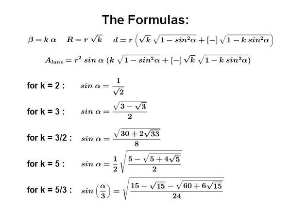 5 squarable lunes formula area Hippocrates